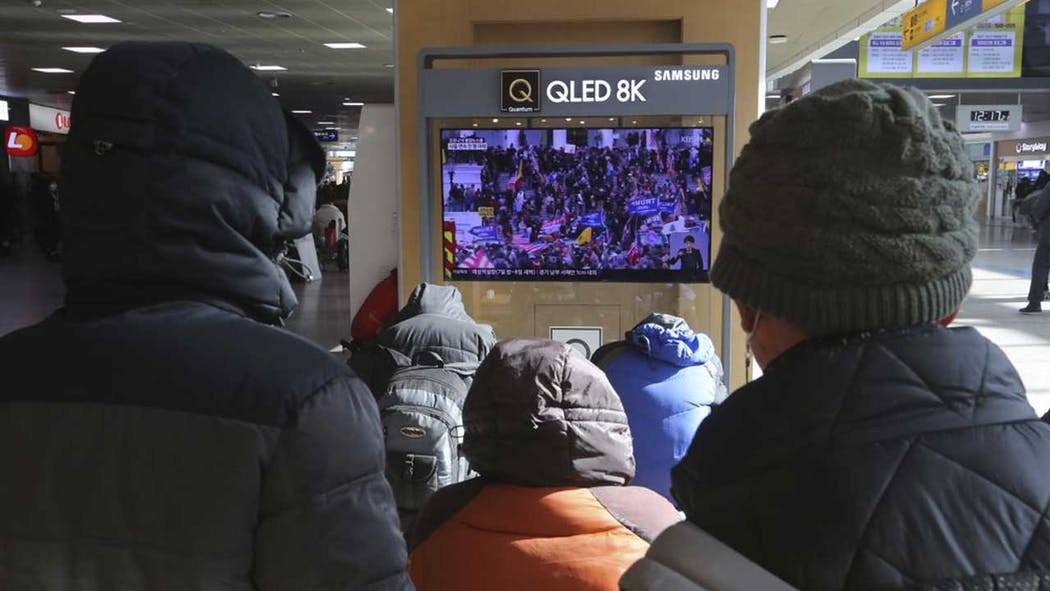 South Koreans watch US Capitol riot