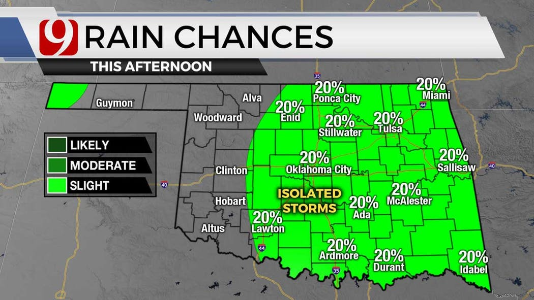 Rain chances for 7-19-21