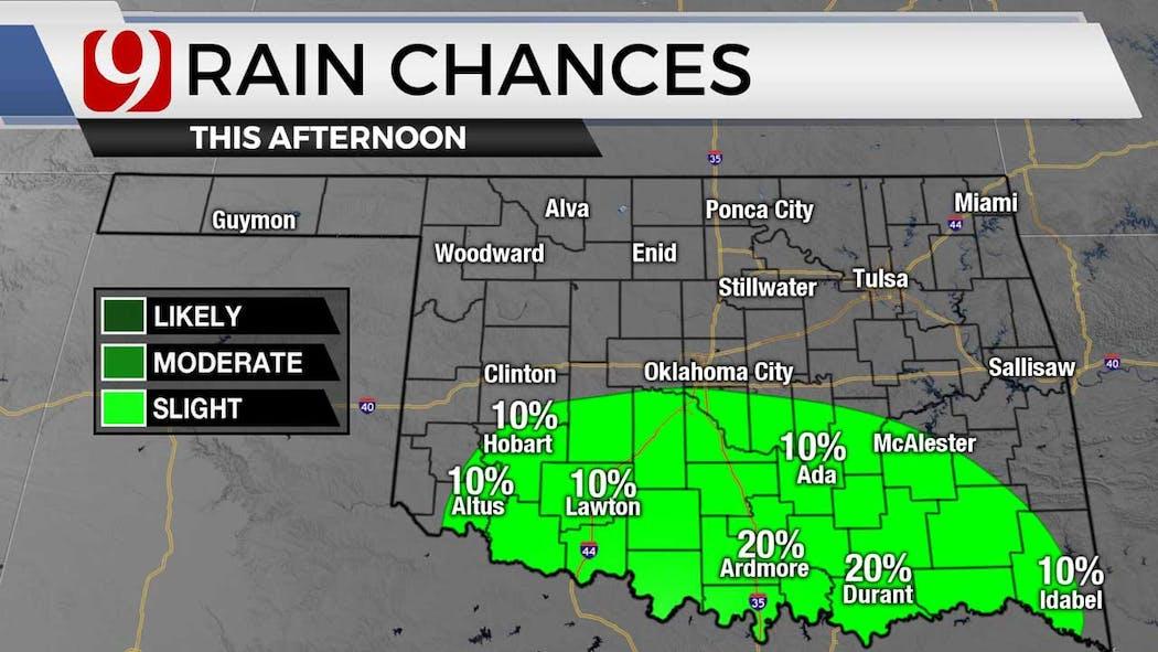 Rain chances for 7-20-21