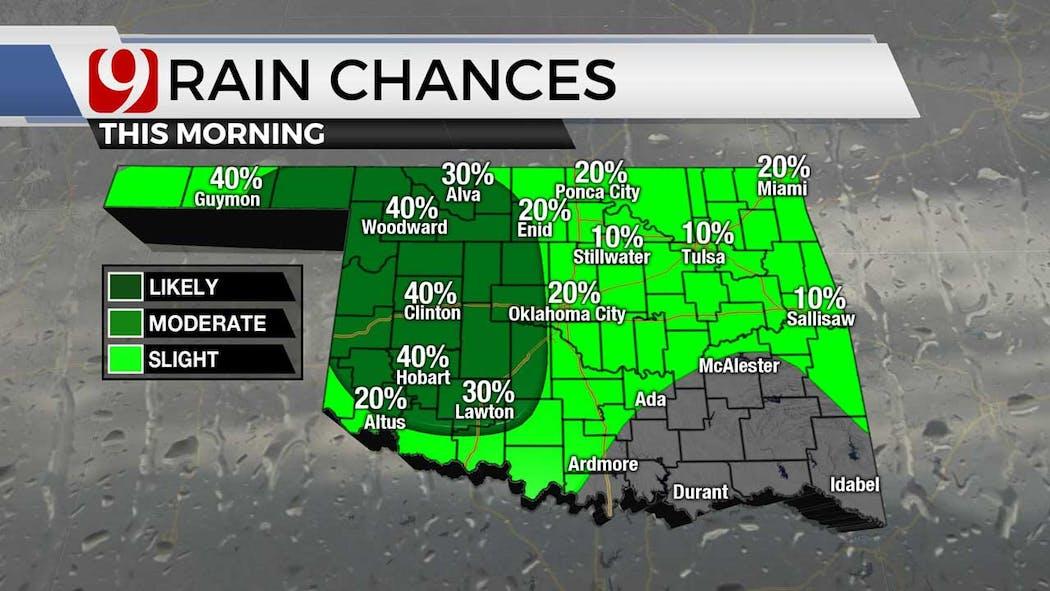 Rain chances for 7-26-21
