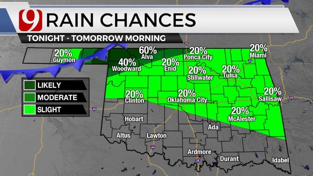 rain chances Tuesday night on 7-6-21