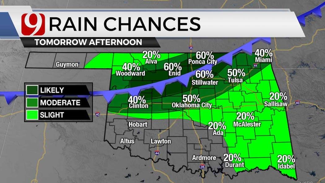 rain chances Wednesday on 7-6-21