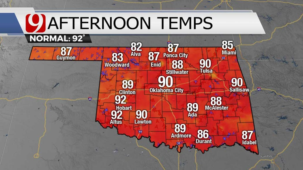 afternoon temps 7-7-21