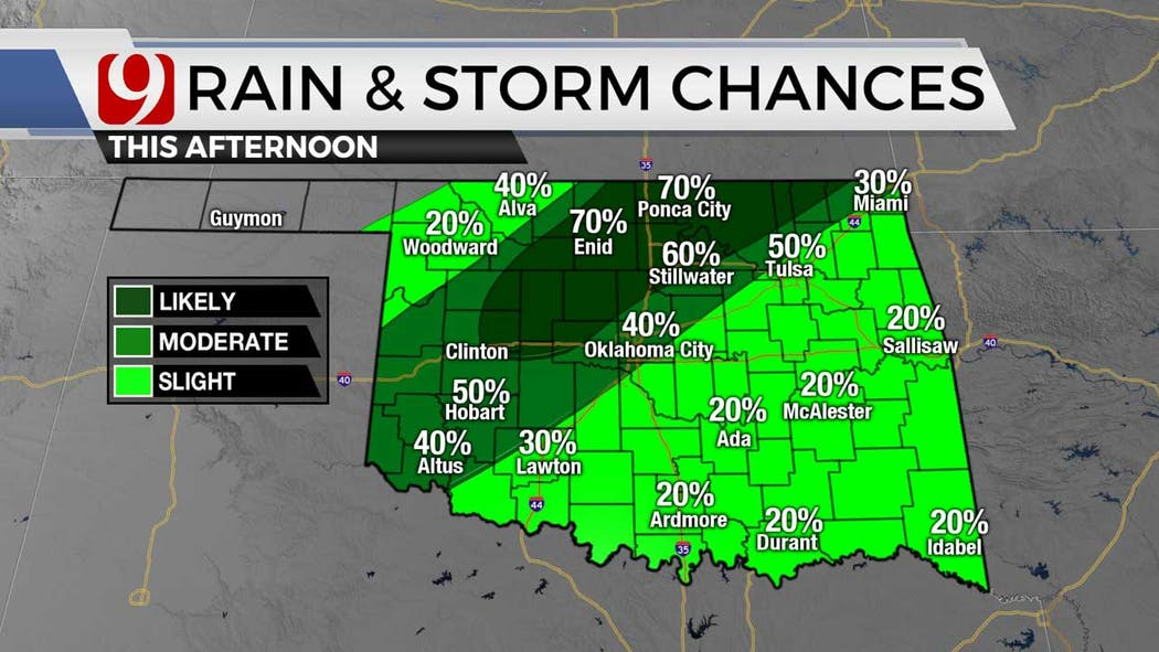 rain and storm chances Wednesday afternoon 7-7-21