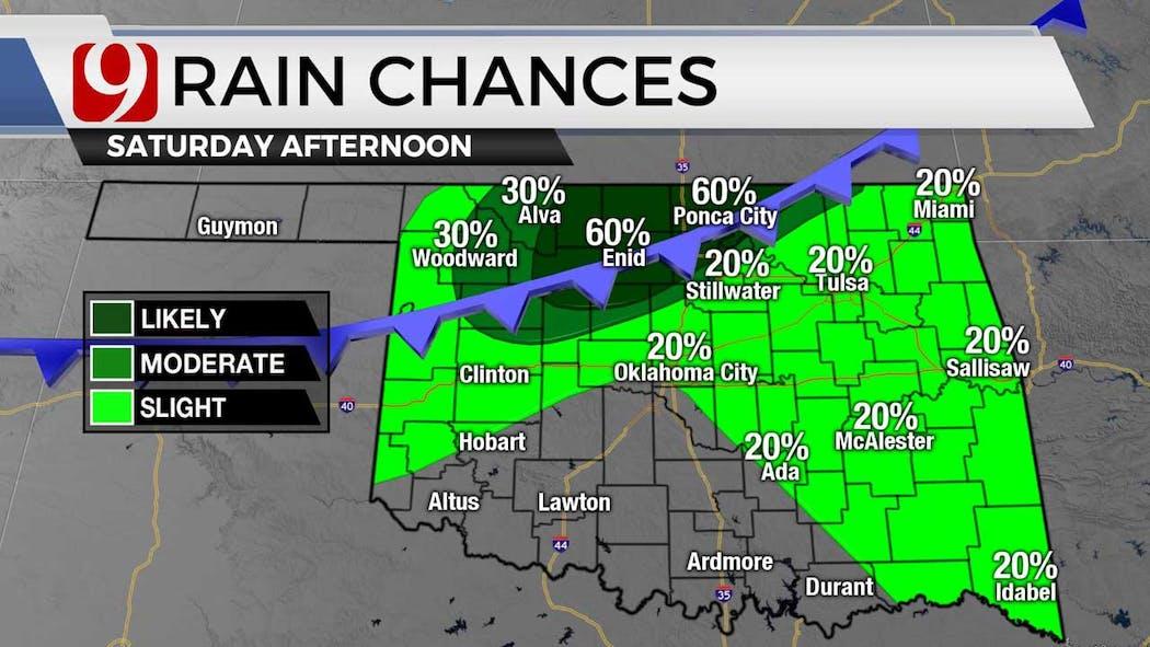 Rain chances for Saturday 7-8-21