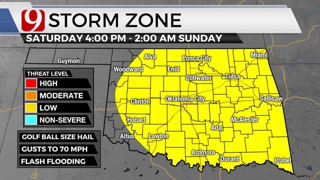 Storm zone for Saturday 7-8-21