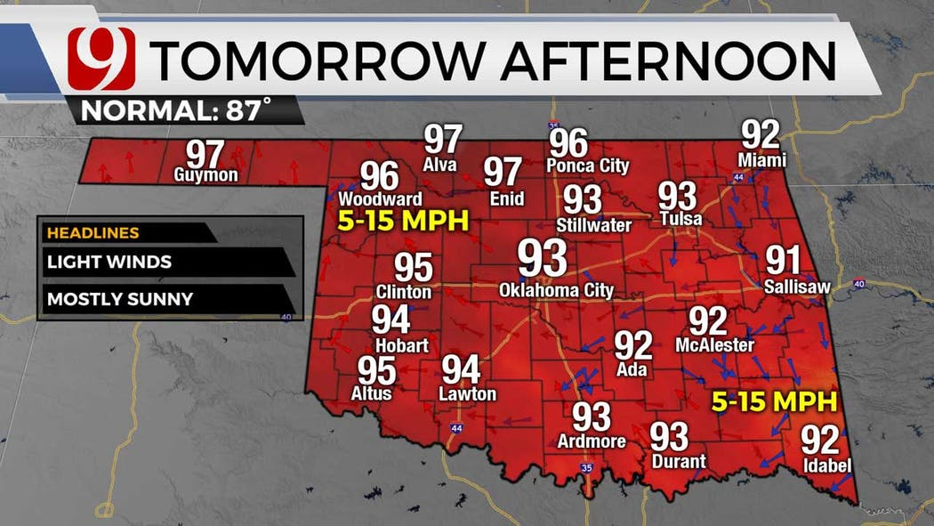 Highs for Tuesday 6-14-21