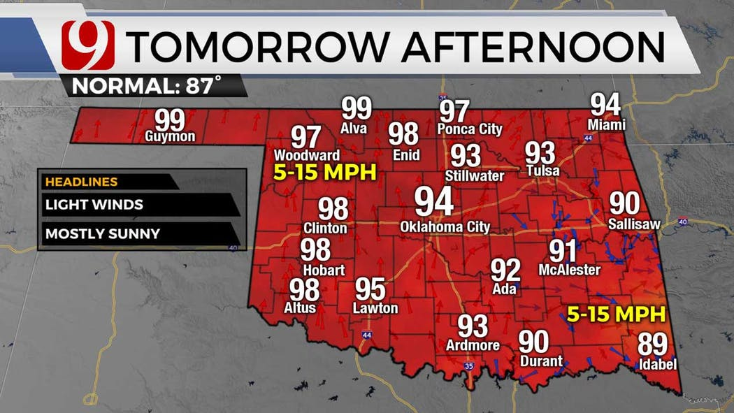 highs for Wednesday 6-15-21
