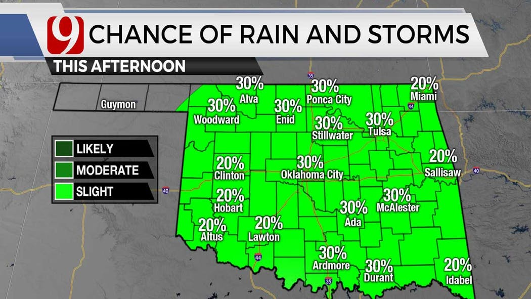 Rain chances in afternoon 6-2-21