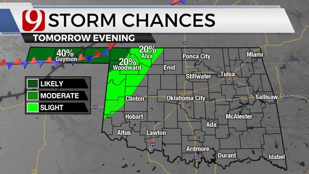 storm chances for Thursday for 6-23-21