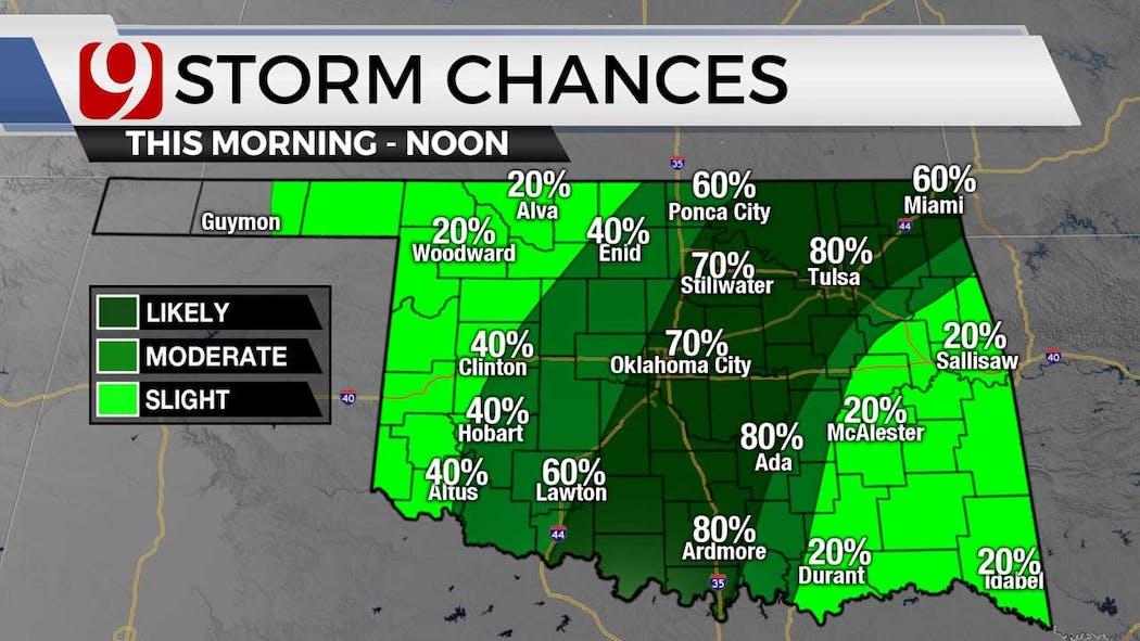 Storm chances for 6-28-21