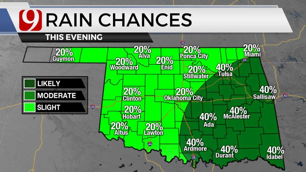 Storm chances for evening for 6-28-21