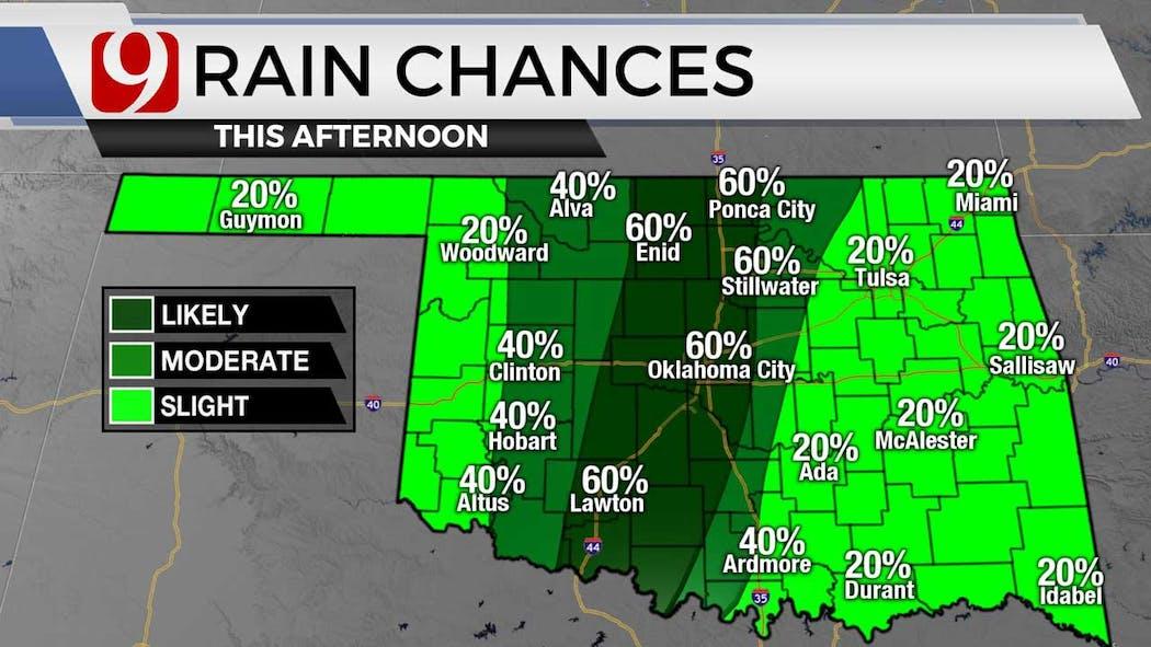 Rain chances for 6-29-21