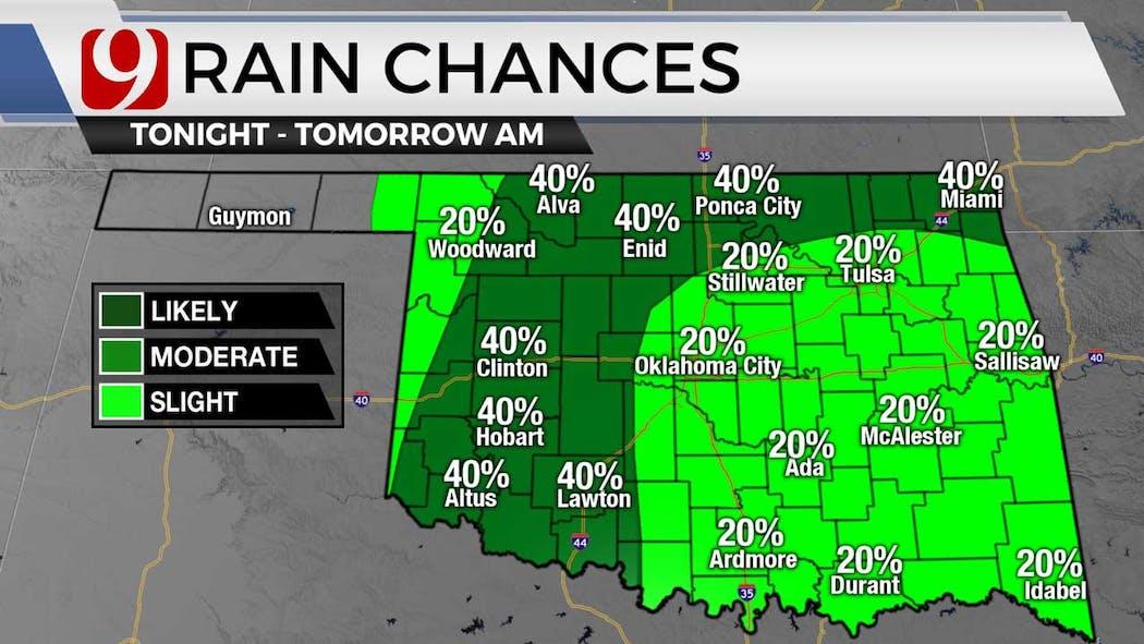 Rain chances for overnight 6-29-21