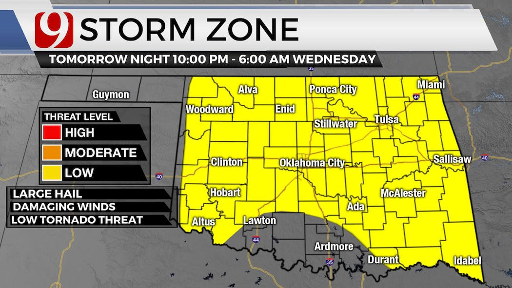 Tuesday Storm Zone