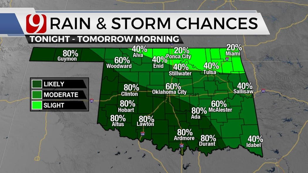 Rain-Chances-5-16 Evening in to 5-17