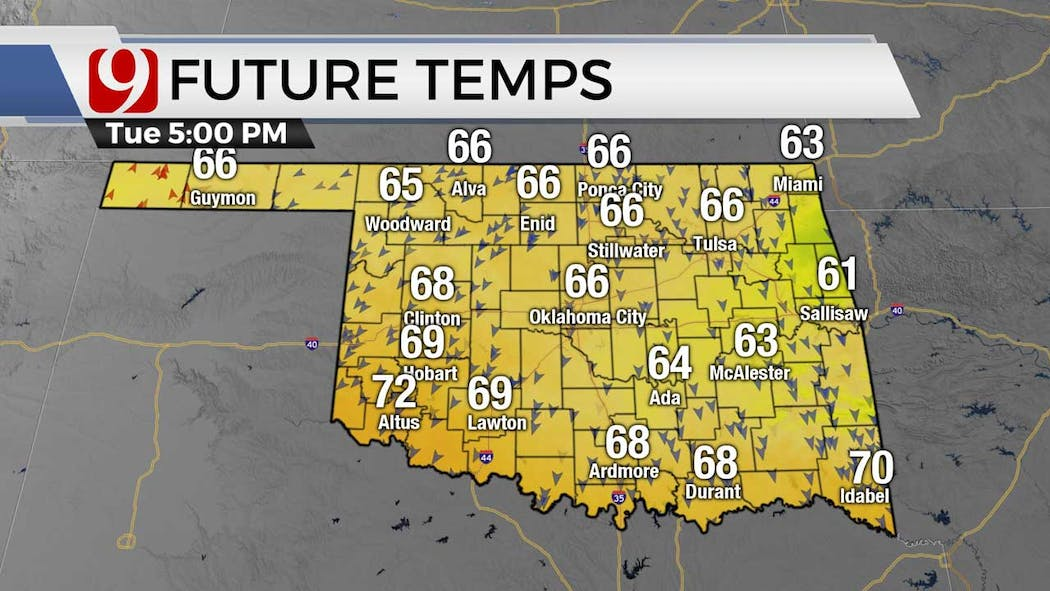 Afternoon temps 5-4-21