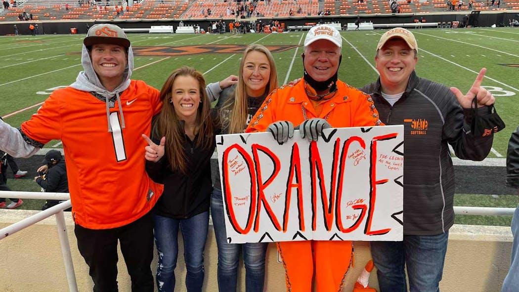 Lee Redick (Mr. Orange Power) and family