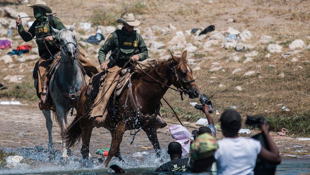 Border Patrol Whips Migrants