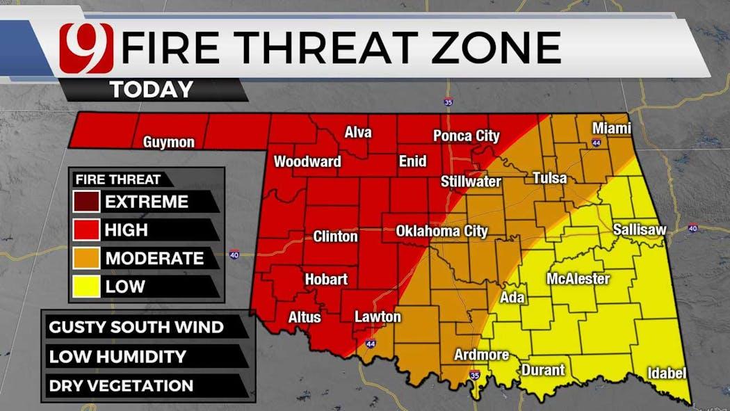 Fire threat zone 9-27-21