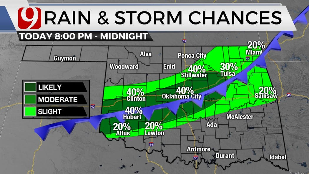 rain zones tonight